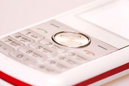 Mobile phone close-up shot. photo