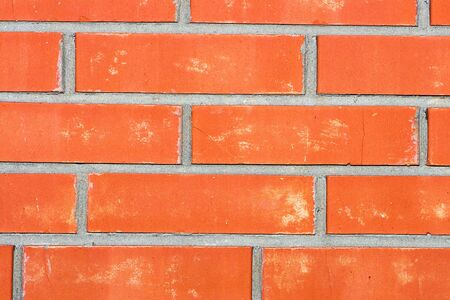 red brick wall close up background photo