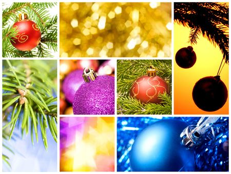 collage of various christmas decorations photo
