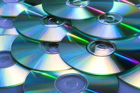 heap of dvd, cd disks photo