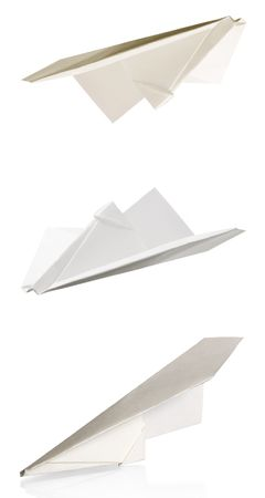 paper plane isolated on a white background