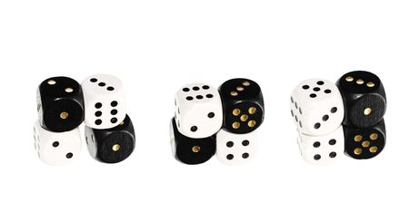 probable: Dice close up, isolated on a white background