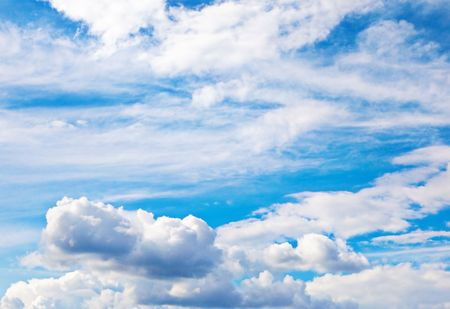 Background of bright blue sky. Stock Photo - 5775159