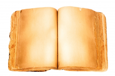 Blank book isolated on white background. Stok Fotoğraf