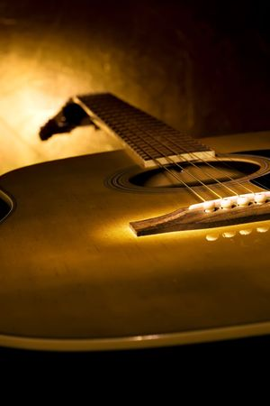 Guitar, perfect music background. Stock Photo - 5775077