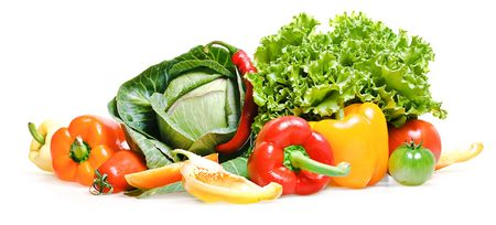 Healthy Eating, isolated on white background. Standard-Bild