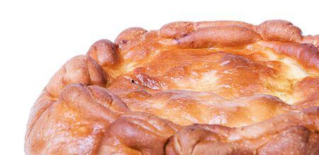 slits: homemade apple pie on white Stock Photo