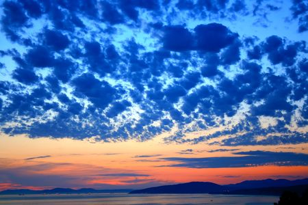 beautiful sky above the sea Banque d'images