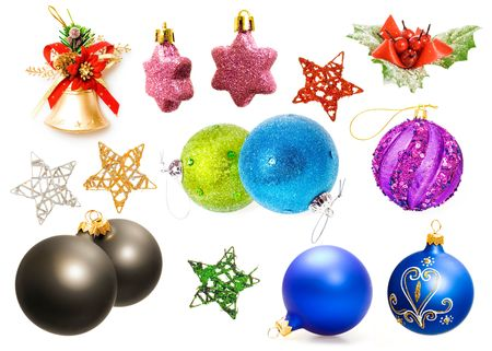Christmas decorations set. Get ready for christmas! photo