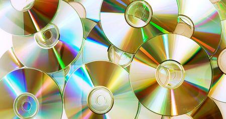 heap of dvd, cd disks Stok Fotoğraf