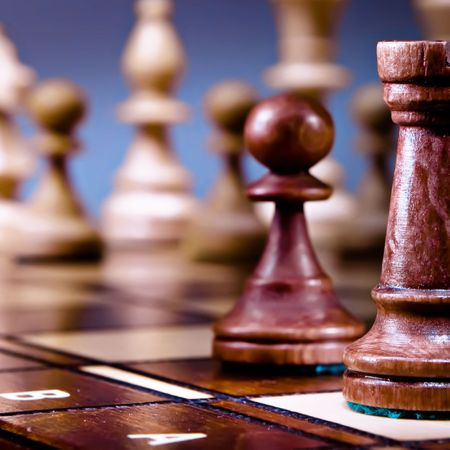Chess on the dark background. Stock Photo - 6034564