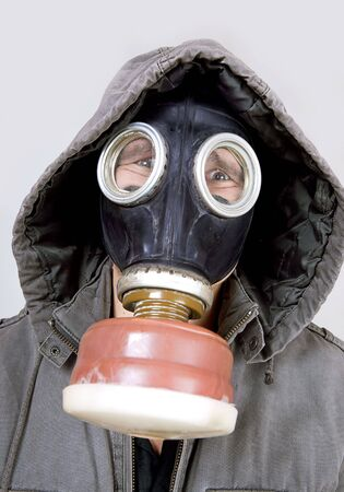 man wearing a gas mask Stock Photo - 6095245