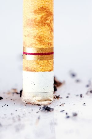 Cigarette close-up. Stop smoking, please! Stock Photo - 6252553