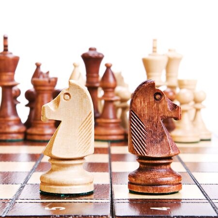 Chess isolated on white background. photo
