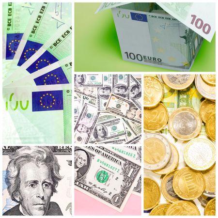 money collage Stock Photo - 6388937