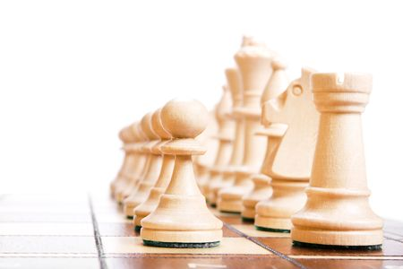 Chess isolated on white background. Stock Photo - 6388972