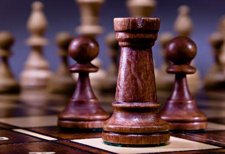 Chess on the dark background. Stock Photo - 6388890
