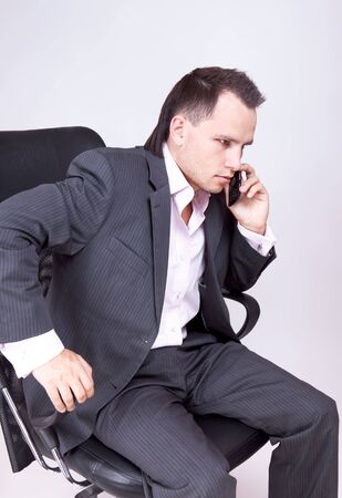 Businessman Using Phone photo