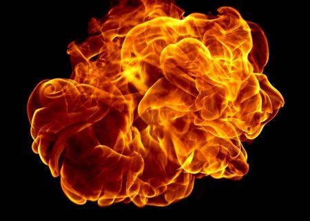 fire big bang on black Zdjęcie Seryjne