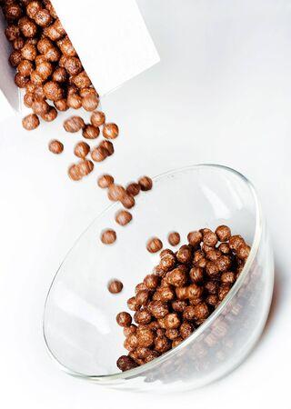 Breakfast - chocolate balls. Stock Photo - 6639274