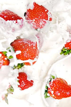 Strawberries and Cream Stock Photo - 7495689