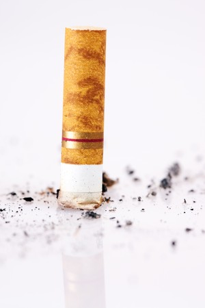 Cigarette close-up. Stop smoking, please! photo