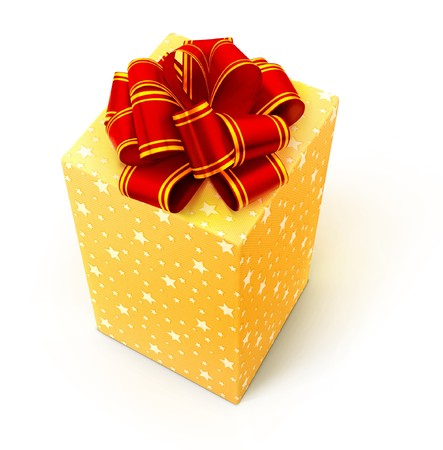 Gift isolated on a white. photo