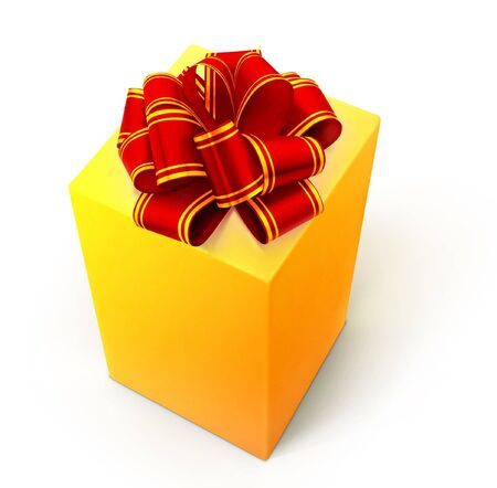 Gift isolated on a white. Stock Photo - 7495592
