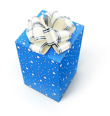 Gift isolated on a white. Stock Photo - 7495654