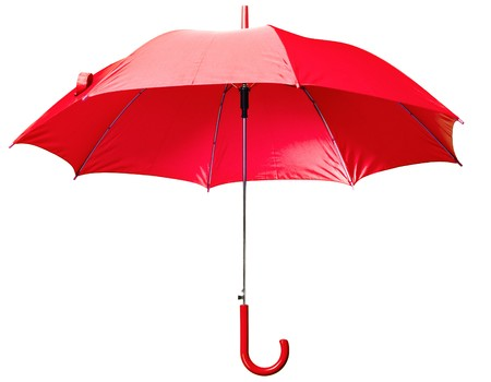 lluvia paraguas: paraguas rojo cl�sico
