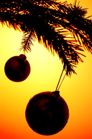 background of christmas decoration baubles photo