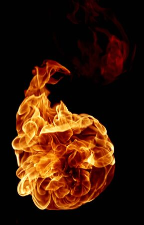 Fire isolated on a black background. Stock Photo - 7662864