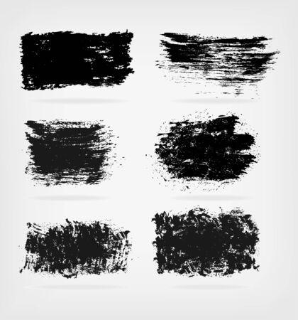 daub: grunge shapes like ink stains - vector set.