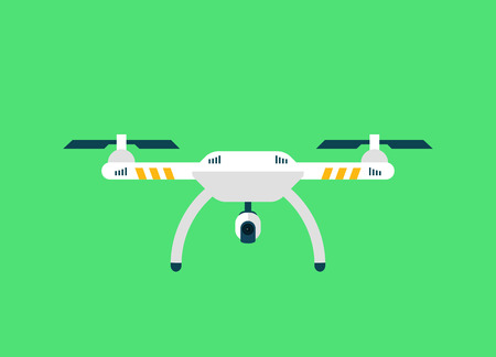 remote view: Drone Sky viewer icon and template. Flat Style. Vector Illustration Illustration
