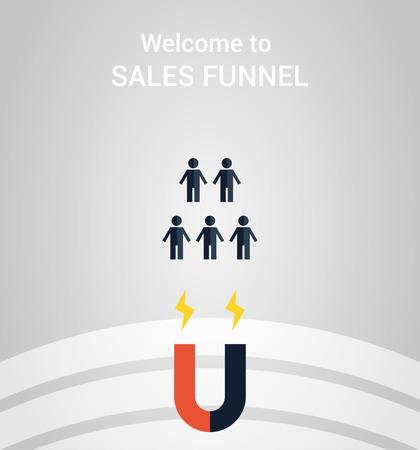 funnel: marketing funnel symbol Illustration