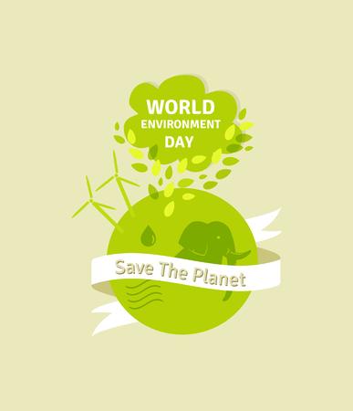 green environment: World environment day concept. Green Eco Earth