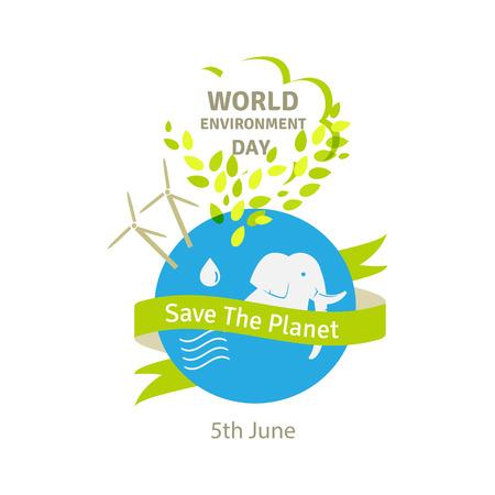 green environment: World environment day concept. Green Eco Earth.