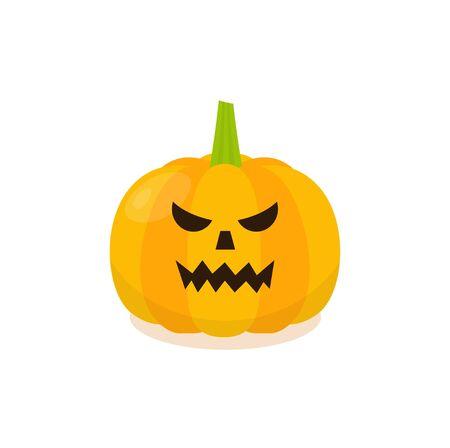 Halloween Evil Pumpkin Icon. Isolated pumkin illustration.