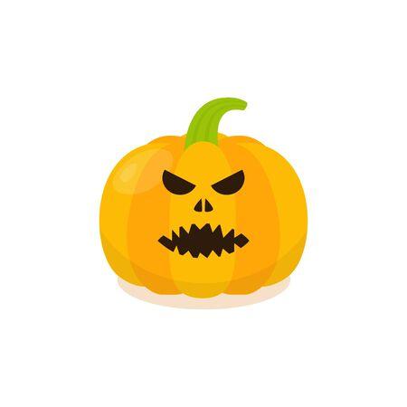 pumkin: Halloween Pumpkin Icon. Isolated evil pumkin illustration. Illustration