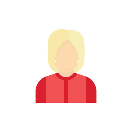 balloting: Presidential candidate Icon. Woman in a suit flat  illustration. Illustration