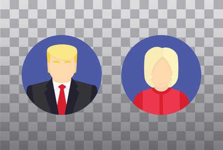 balloting: Presidential candidate isolated Icons. Flat  illustration. Election concept. Illustration