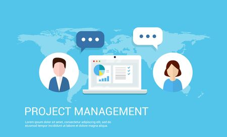initiating: Project Management vector.
