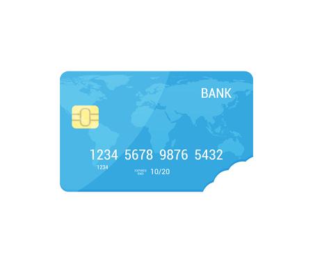 Concept de vecteur de taux d'intérêt dans un style plat. Carte de vecteur de carte de crédit Icolated.