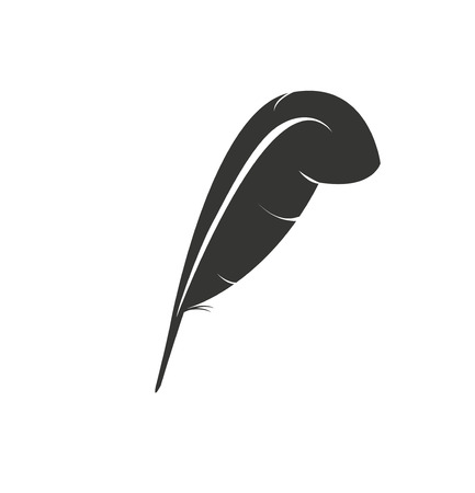 Feather isolated vector icon. Authorship concept.