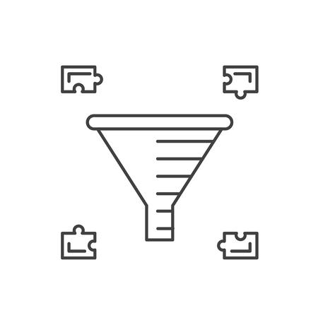 Internet marketing concept. Sale Funnel vector line icon.
