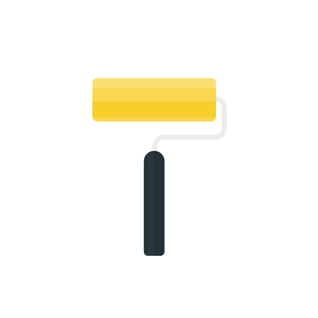 roller: Paint roller icon. Vector illustration in flat style