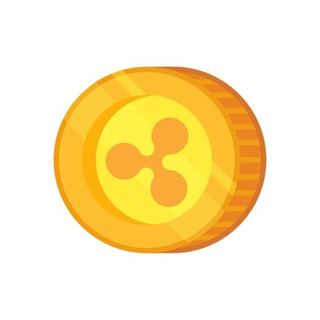 Ripple vector icon. Cryptocurrency with huge market capitalization. Based on blockchain technologie.