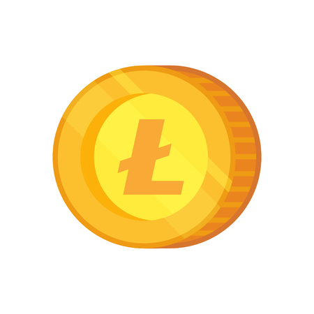 Lite coin vector icon. Cryptocurrency with huge market capitalization. Based on blockchain technology.
