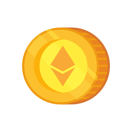 Ethereal Classic vector sign. Cryptocurrency with huge market capitalization. Based on blockchain technology. Illustration