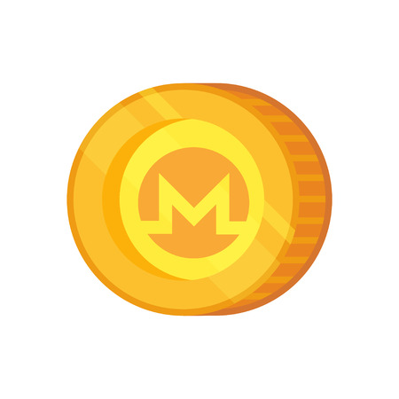 Monero vector sign. Cryptocurrency with huge market capitalization. Based on blockchain technologie. Stock Photo